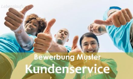 Bewerbung Muster Kundenservice